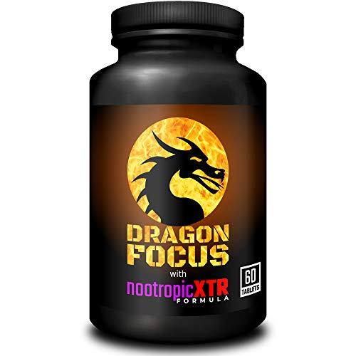 Dragon Focus with nootropicXTR Formula | Powerful Brain Booster & Cognitive Enhancer | Mental Performance Supplement | 60 Tablets
