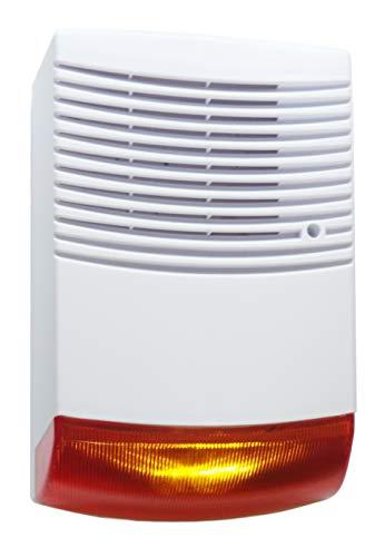 Alarm Attrappe Alarmsirenen Attrappe mit Blinklicht Alarmanlage Attrappe IP44 für Innen und Außen