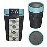rCUP - World's First Reusable Travel Cup Made from Recycled Single-Use Cups (Black - Teal 8oz / 227ml)