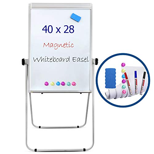 "Portable Double Sided 40"" x28"" Magnetic Dry Erase Board Easel with U-Stand 