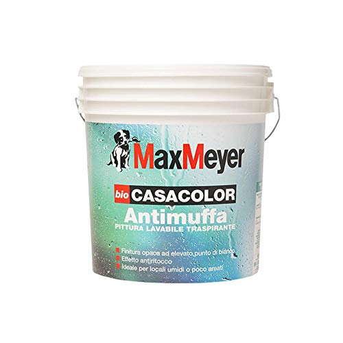 Pintura mural lavable antimoho transpirable Biocasacolor Max Meyer 0,75 L