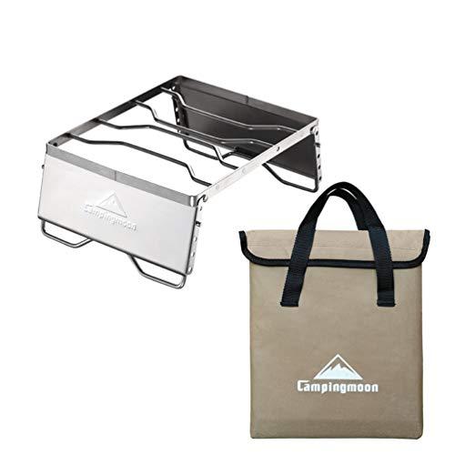 LIOOBO Gril en Acier Inoxydable Portable Barbecue à gaz Outil avec Sac de Rangement pour Griller en Plein air Pique-Nique arrière-Cour Camping Queue
