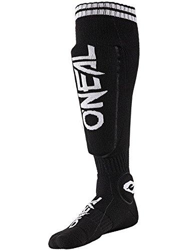 O\'NEAL | Motocross-Socken | Motocross Enduro | Feuchtigkeitsableitende Materialien, Dickes Strickgewebe an Ferse & Sohle, Integrierte Taschen | MTB Protector Sock | Erwachsene | Schwarz | One Size