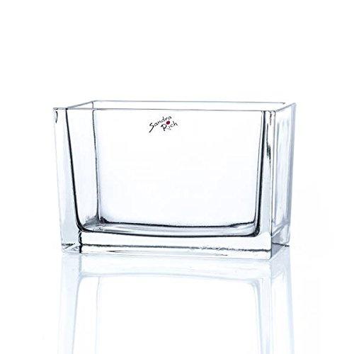 Sandra Rich Glasschale, Dekoglas Jardiniere H. 10cm 8x15,5cm eckig transparent