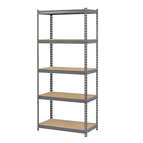 Robustes Stahlregal für die Garage, 175 kg pro Boden, 5 Ebenen, 1800 mm H x 900 mm B x 300 mm T