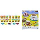 Play Doh Pack Colores Brillantes (Hasbro B6380F03) , Color/Modelo Surtido + La Tostadora (Hasbro E0039Eu4)
