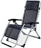 LZMXMYS Silla de salón al Aire Libre, sillas de jardín Sillas Tumbona reclinable Sillón Gravedad Cero Patio, reclinado tumbonas en el jardín al Aire Libre Plegable portátil Playa Campamento Tumbona