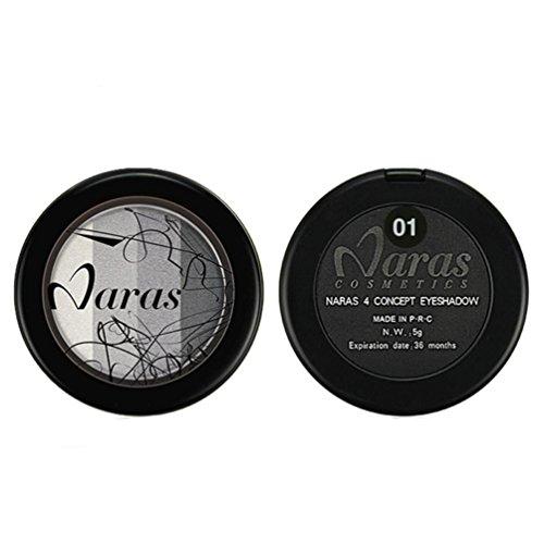 Coloré(TM) Palettes de maquillage 4 colors Fard à paupières Fard à paupières Minéral Fard à paupières Shimmer Métallique Paillettes Poudre (A)