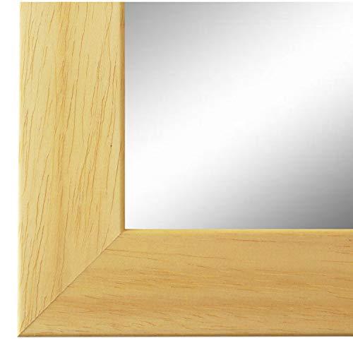 Online Galerie Bingold Wandspiegel Spiegel Badspiegel - Florenz 4,0 - Natur Braun - 40 x 50 - Außenmaß inkl. Massivholz-Rahmen - viele Größen verfügbar - Modern, Barock, Antik, Vintage