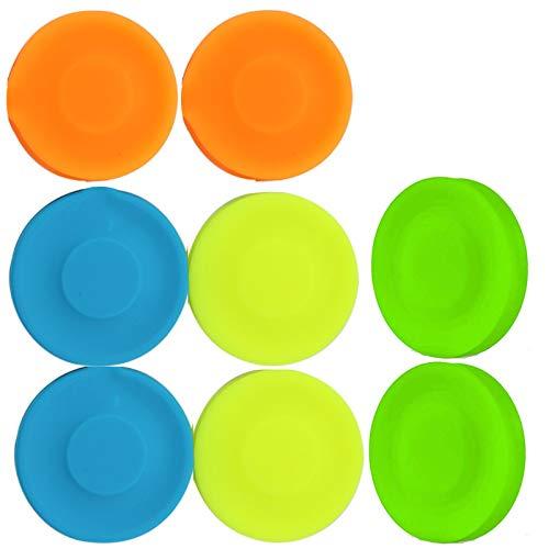 Perros Interactivos Frisbee de Goma Volador Suave Ligero del Disco Volador for Mascotas Frisbees Suaves y Ligeros Mini Disco Volador Disco Volador Suave Pet Frisbee Juguete al Aire Libre 8 Piezas