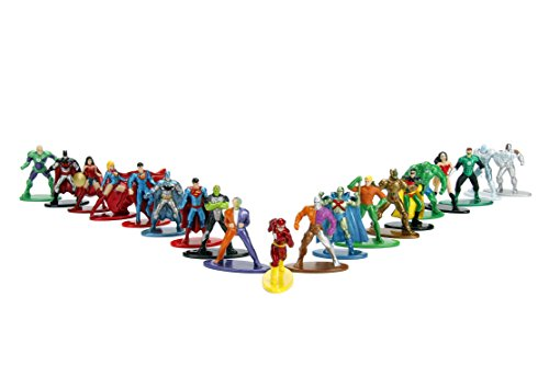 Jada Toys DC Comics 1.65' Die-cast Metal Collectible Figures 20-Pack Wave 1, Toys for Kids and Adults, Multi-Color (84409)