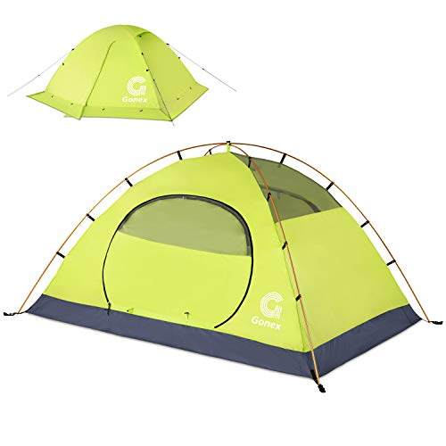 Gonex Camping Tent, 2 Person Backpacking Tent Waterproof Windproof Dome Tent for Snow and Cold for Camping Hiking Backpacking Mountaineering, Green