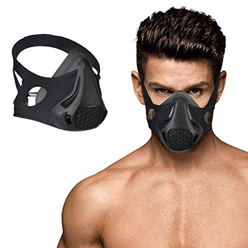 Twenty Four Level Breathing ResistanceWork Out MaskHigh Altitude Elevation Breathing Fitness Masks for Gym Fitness Cardio Endurance Deprivation of Oxygen Mask for Men and Women Sports
