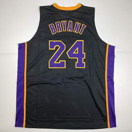 Unsigned Kobe Bryant #24 Los Angeles LA Black Custom Stitched Basketball Jersey Size Men's XL New No Brands/Logos