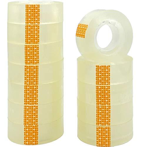 ZCENTER- Cinta adhesiva 12 cintas, 18 mm x 35 m, Celo adhesiva transparente