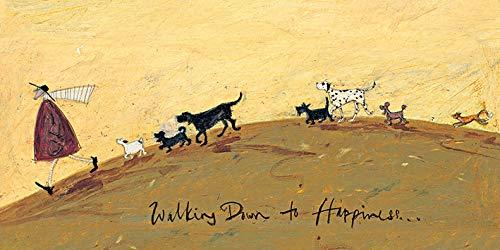 El Arte Grupo Sam Toft Walking Down a la Felicidad Lienzo impresión, algodón, Multicolor, 1,8x 50x 100cm