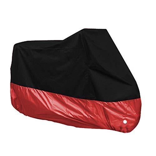 Doitsa - Funda de protección para Moto, Lona Impermeable de poliéster 190T con Bolsa de Almacenamiento, Color Rojo y Negro, 2XL: 245 x 105 x 125 cm