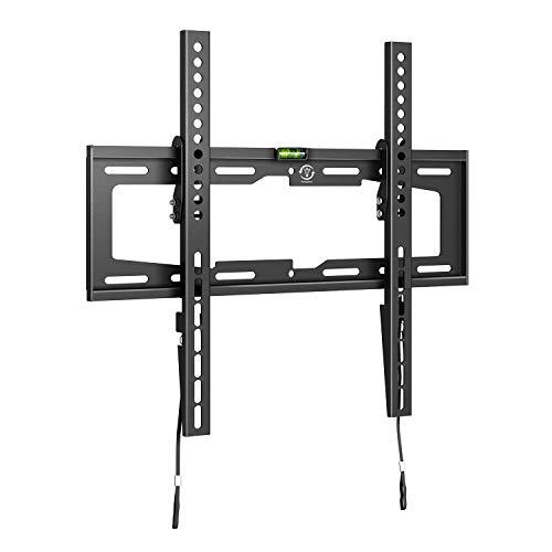 fam famgizmo VESA - Soporte de pared para TV de 23 a 55 pulgadas (100 x 100 – 400 x 400 mm, inclinable, 60 kg, bloqueo de la cuerda, con nivel de burbuja)