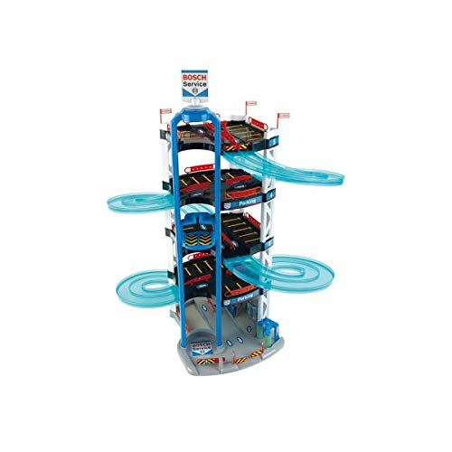Theo Klein 3404 Michelin Service Station Gebäude und Auto mit Schraubsystem demontierbar I Inkl....