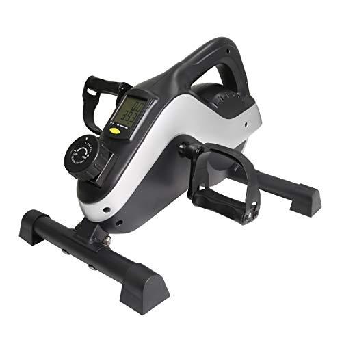ERGO LIFE Mini-Bike unter dem Schreibtisch. Mini-Bike mit LCD-Digitalanzeige. Trainingsgerät für Bein- und Arm-Heimtrainer, verstellbare Träger, für alle Familien geeignet
