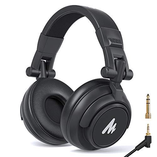MAONO AU-MH601 - Cuffie da studio con monitor stereo da 50 mm, per musica, DJ, podcast (nero)