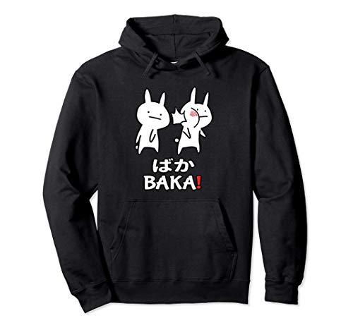 Anime Baka Bofetada de Conejo Sudadera con Capucha