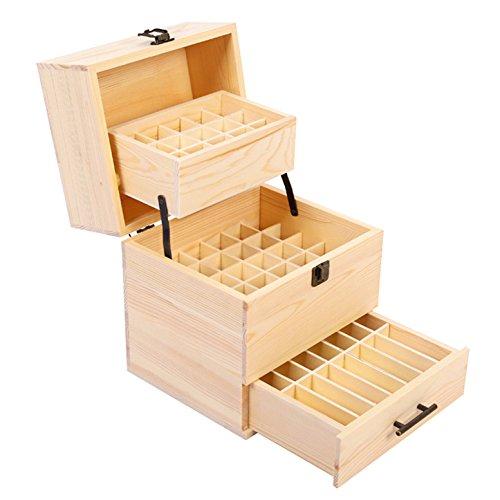 CHSEEO Caja Aceites Esenciales 59 Botellas Caja Almacenamiento