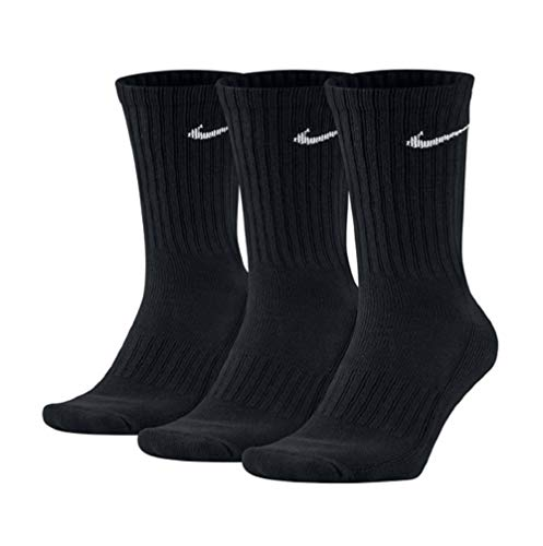 Nike Value Cotton Crew - Calcetines (3 unidades) blanco/negro L