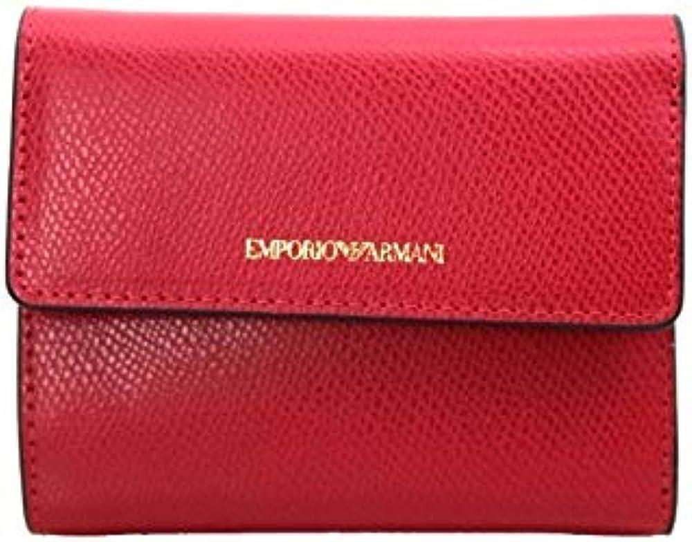 Emporio armani portafoglio da donna small poppy red/smokey in similpelle Y3H215 YFW9B 80003