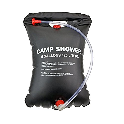 Solar Camp Shower Bag,Facelink Solar Heated Outdoor Shower Camping Water Bathing Bag...