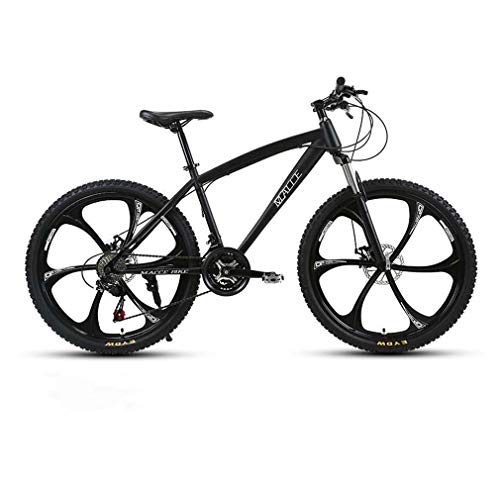 Adulti 24 Pollici Mountain Bike, Spiaggia motoslitta Biciclette, Biciclette Doppio Freno a Disco, Alluminio Lega, Uomo Donna General Purpose,Nero,27 Speed