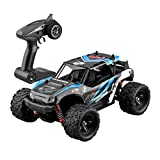 Jinjin 50Km/H 1/18 Scale Rc Car 2.4G High Speed Fast Remote Controlled Large Remote Control Car Professional Big Foot Four-Wheel Drive Climbing Off-Road Racing Super Fuel-Powered Toy (Blue)