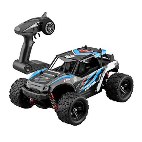 HSKB 1/18 2.4G RC Auto , 50 KM / H Jeep Fahrzeug Allradantrieb Ferngesteuertes Ferngesteuertes Elektro High Speed Wüstenbuggy Racing 24 Straßensperren (Blau)