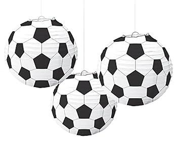 Amscan 240178 Soccer Paper Lanterns Party Decoration   3 piece