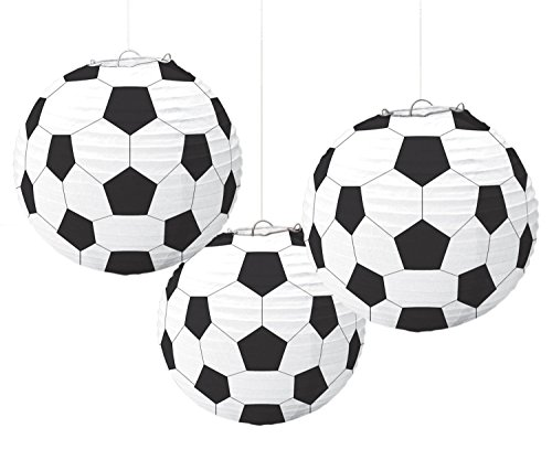 "Amscan Soccer Goal Birthday Party Paper Lanterns Decoration, 9"", Pack of 3 Party Supplies"