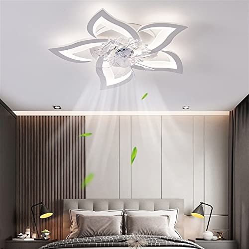 ACMTO Deckenventilator Mit Beleuchtung Fernbedienung Leise Kreativer Lichter Design Deckenventilator Modern LED Dimmbar Deckenbeleuchtung Für Wohnzimmer, Schlafzimmer Kinderzimmer Esszimmer