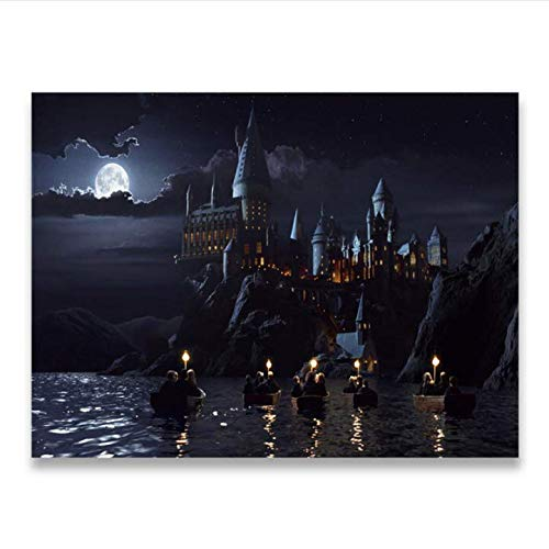 daerduotutu Harries Poster Deer Potter'S Canvas Painting Movie Posters Wall Art Living Room A28 50×70CM Without Frame