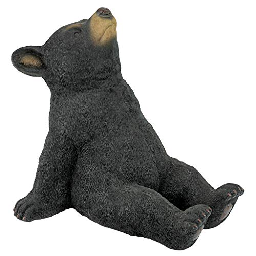 Design Toscano QM2622000 Catching Rays Bear Cub Statue, Full Color Finish