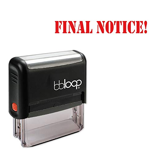 Final Notice! w/Military Style Font and Design Self-Inking Rubber Stamp