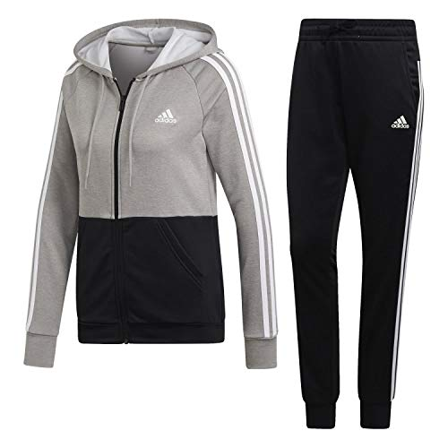adidas WTS Game Time Chándal, Mujer, mgh Solid Grey/Black/White, 2XS