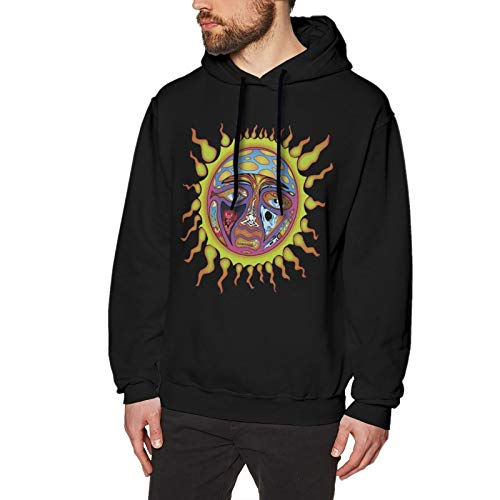 The Story of Sublimes Iconic Sun Logo Man's Sweatshirt with Round Neck and Long Sleeves Sportswear Black