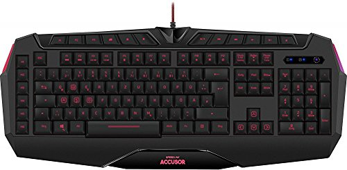 Speedlink ACCUSOR Advanced Gaming Keyboard - Professionelle Gaming-Tastatur mit LED-Tastenbeleuchtung - schwarz