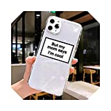 Clear Text Social Media Phone Case for for iPhone 12 Pro Max Cases for for iPhone SE 2020 5S 6S 7 8 Plus 11 XS Pro Max XR Cover-22187-For for iPhone SE2020
