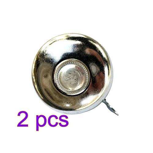 LIOOBO Retro Bicycle Bell Classic Bike Accessory Alarm Metal Handlebar Mini Cycling Horn 52mm Pack of 2