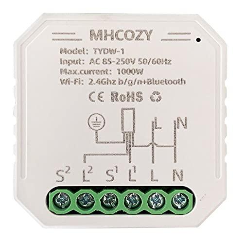 MHCOZY Tapparelle WIFI Interruttore modulo per tende elettriche motorizzate,Tuya Smart Life con telecomando e funzione timer percentuale, Controllo Vocale con Alexa Google Home