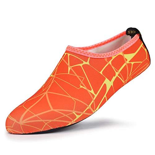 WEIZI 1/5 / 10Pcs Respirable Cómodo SnorkelDeporte De La Natación De Agua Calcetines Anti Slip Zapatos De Yoga De La Aptitud De Danza Beach Calcetines Txtb1,8, XXL