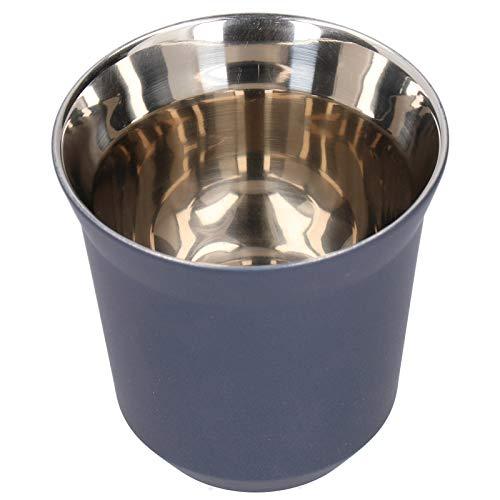 Emoshayoga Taza de café de Acero Inoxidable sin Tiradores de Doble Pared Taza de café para Uso doméstico en la Cocina(Business Blue)