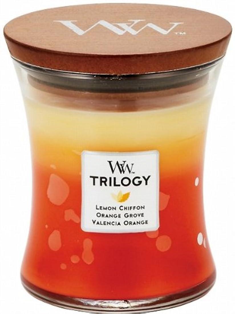 蜜絶えずすべきWood Wick ウッドウィック トリロジージャーキャンドルMサイズ シトラス