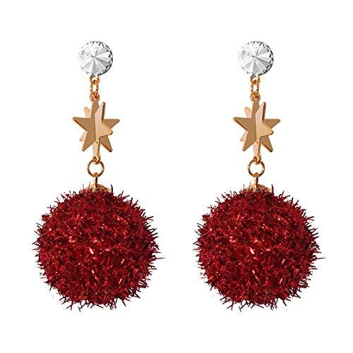 Pendientes Cute Stud Earrings Bola Roja Aretes Aretes Aretes De Moda Femenina Regalos