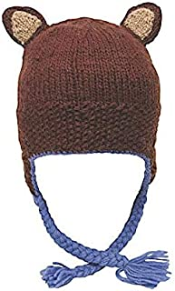 Kid's Warm Winter Wool Knit Forest Beanie | Ethical Fair Trade Production | Handmade in Nepal